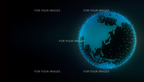 グローバルネットワーク・インターネット・ITビジネスイメージイラストのイラスト素材 [FYI01217888]