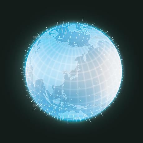 地球グラフィックイメージ(グローバルネットワーク・インターネット・ITイメージ)のイラスト素材 [FYI01217890]