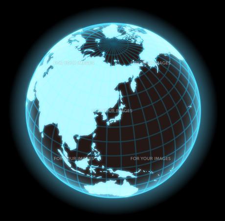 地球グラフィックイメージ(グローバルネットワーク・インターネット・ITイメージ)のイラスト素材 [FYI01217891]