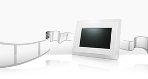 デジタルフォトフレーム 製品イメージのイラスト素材 [FYI01217893]