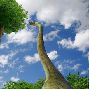 巨大草食恐竜の生活イメージCGのイラスト素材 [FYI01217894]