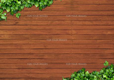 背景素材 (木目とツタ)のイラスト素材 [FYI01217895]