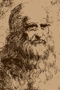 レオナルド・ダ・ヴィンチ自画像イラストのイラスト素材 [FYI01217908]
