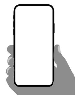 汎用スマートフォンフレーム 絵型/モック 手持ちイラストのイラスト素材 [FYI01217931]