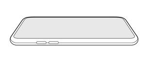 汎用スマートフォンフレーム(アウトライン) 絵型斜めイラストのイラスト素材 [FYI01217933]