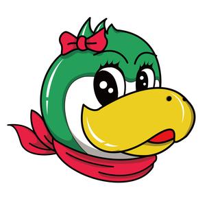 ペンギン キャラクターイラスト メスのイラスト素材 [FYI01217935]