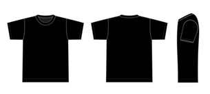 半袖Tシャツ 絵型イラスト(黒)のイラスト素材 [FYI01217937]