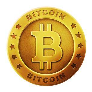 ビットコイン 仮想通貨イメージイラスト (ゴールド)のイラスト素材 [FYI01217991]