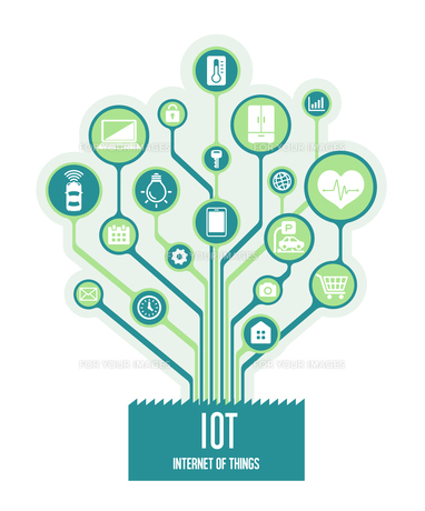 IoT(Internet of things) / モノのインターネットイメージイラスト (ツリー)のイラスト素材 [FYI01219662]