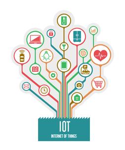 IoT(Internet of things) / モノのインターネットイメージイラスト (ツリー)のイラスト素材 [FYI01219663]