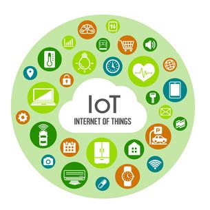 IoT(Internet of things) / モノのインターネットイメージイラスト(サークル)のイラスト素材 [FYI01219664]