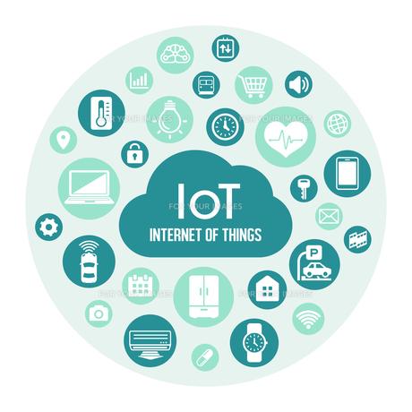IoT(Internet of things) / モノのインターネットイメージイラスト(サークル)のイラスト素材 [FYI01219665]