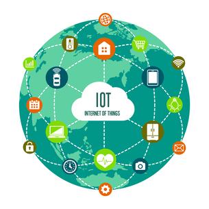 IoT(Internet of things) / モノのインターネットイメージイラスト(地球)のイラスト素材 [FYI01219666]