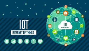 IoT(Internet of things) / モノのインターネットイメージイラスト(地球)のイラスト素材 [FYI01219668]