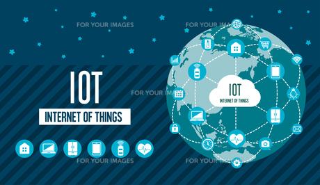 IoT(Internet of things) / モノのインターネットイメージイラスト(地球)のイラスト素材 [FYI01219669]