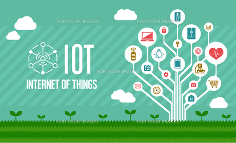 IoT(Internet of things) / モノのインターネットイメージイラスト(ツリー)のイラスト素材 [FYI01219670]