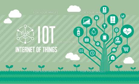 IoT(Internet of things) / モノのインターネットイメージイラスト(ツリー)のイラスト素材 [FYI01219671]