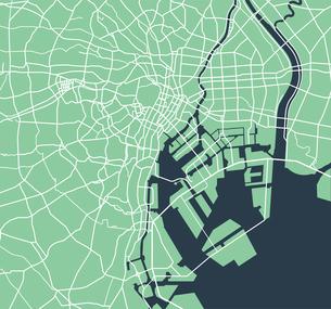 東京ベイエリア(東京湾周辺) 道路マップのイラスト素材 [FYI01219673]