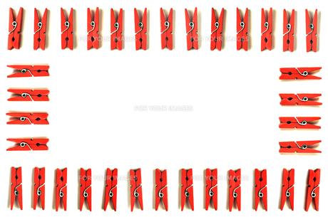 木製クリップの囲いの写真素材 [FYI01219716]