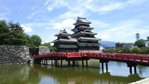 国宝 松本城の写真素材 [FYI01219933]