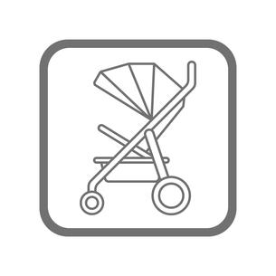 ベビーカー アイコンのイラスト素材 [FYI01220156]