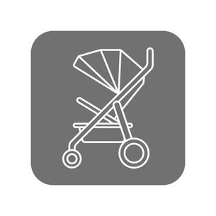 ベビーカー アイコンのイラスト素材 [FYI01220157]