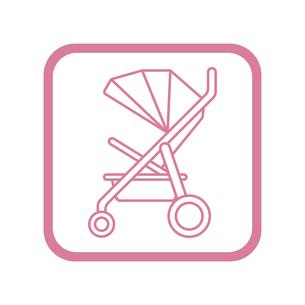 ベビーカー アイコンのイラスト素材 [FYI01220163]