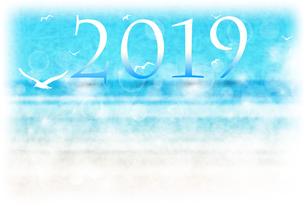 年賀状2019のイラスト素材 [FYI01220424]
