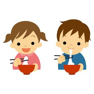 餅を食べる子供のイラスト素材 [FYI01220482]