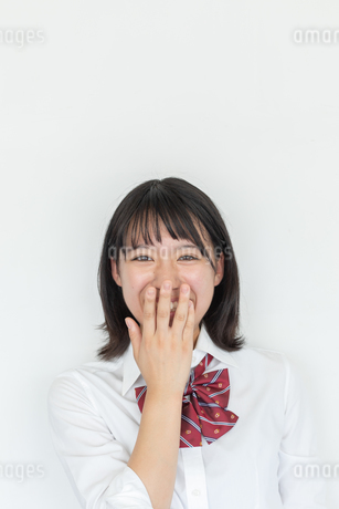 笑顔の女子高校生の写真素材 [FYI01220743]