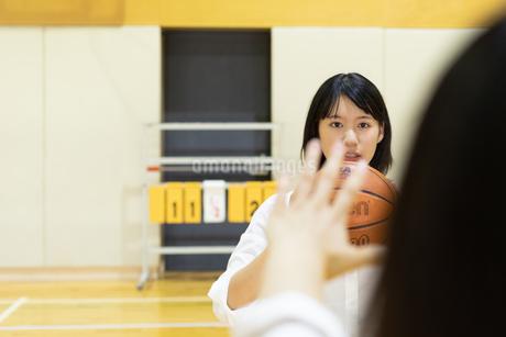 バスケットボールを持つ女子高校生の写真素材 [FYI01220773]