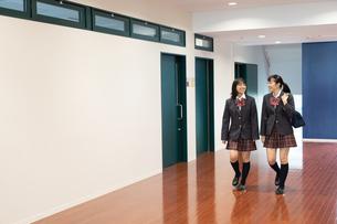 会話する2人の女子高校生の写真素材 [FYI01220806]