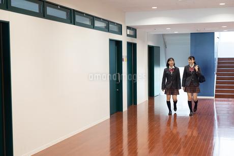 会話する2人の女子高校生の写真素材 [FYI01220807]