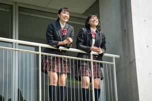 2人の女子高校生の写真素材 [FYI01220923]