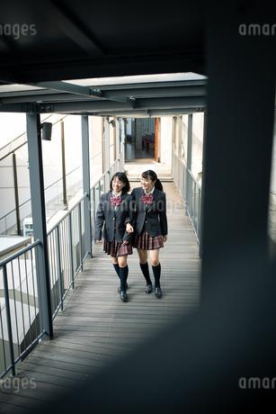 校内を歩く女子高校生の写真素材 [FYI01220934]