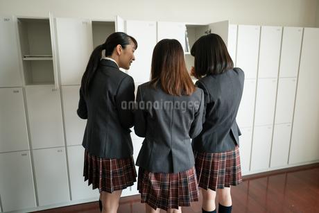 ノートを見る女子高校生の写真素材 [FYI01220976]