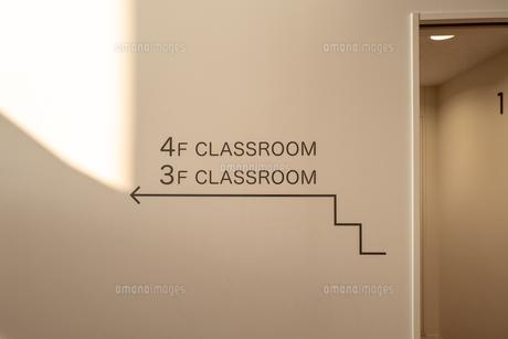 校舎の案内表示の写真素材 [FYI01220983]