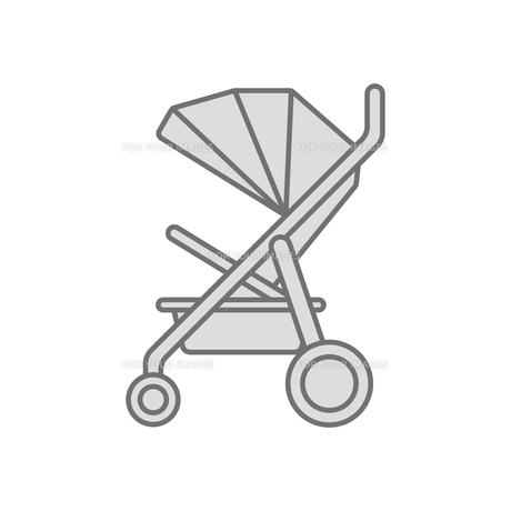 ベビーカー アイコンのイラスト素材 [FYI01221093]
