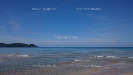 海と岬と河口の写真素材 [FYI01222227]