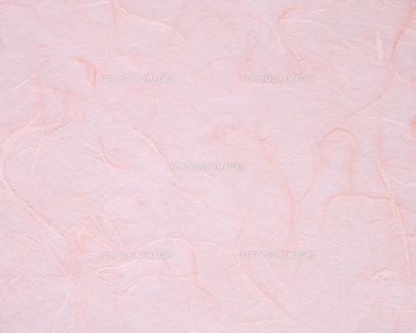 ピンクのすき紙のテクスチャーの写真素材 [FYI01222252]