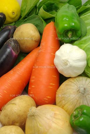 縦位置のたくさんの野菜の写真素材 [FYI01222399]