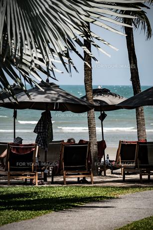 フアヒンの海辺 タイランド hua hin Thailandの写真素材 [FYI01222717]