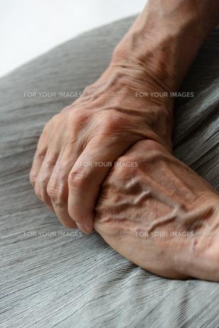 シニアの女性の手の写真素材 [FYI01222735]