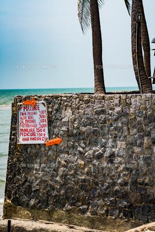 フアヒンの海辺 タイランド hua hin Thailandの写真素材 [FYI01222747]
