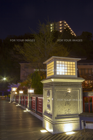 有馬温泉 太閤橋 夜景の写真素材 [FYI01222871]