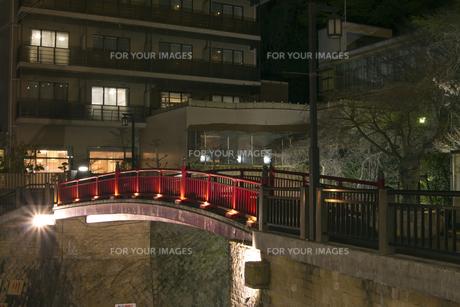 有馬温泉 ねね橋 夜景の写真素材 [FYI01222872]