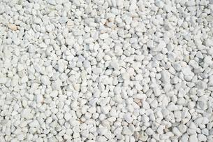 敷き詰められた白い玉砂利の写真素材 [FYI01223008]