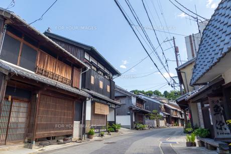 兵庫県たつの市 室津の町並みの写真素材 [FYI01223049]