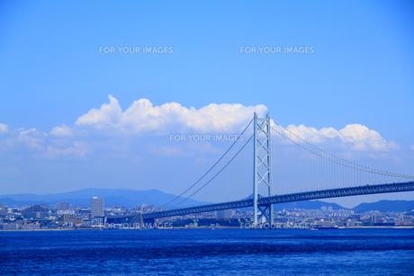 明石海峡大橋の写真素材 [FYI01223130]