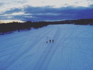 雪国の情景の写真素材 [FYI01223600]
